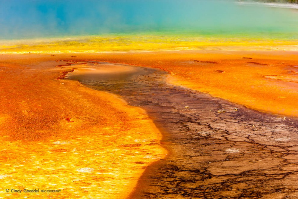 Grand Prismatic Spring Abstract
