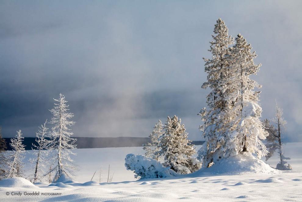 Winter Sunrise at Yellowstone Lake