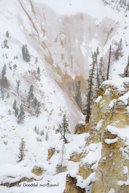 Winter in Grand Canyon of the Yellowstone