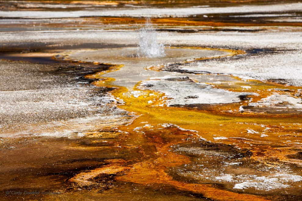 Black Sand Basin Abstract